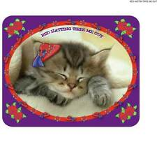 """PURPLE T SHIRT 4X KITTY CAT  """"RED HATTING TIRES ME OUT"""" FOR LADIES OF SOCIETY"""