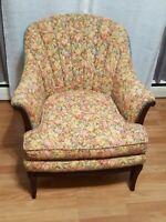 French Style Wingback Chair  LOCAL PICK-UP ONLY