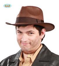 Borsalino Marrone Cowboy Carnevale Travestimento Indiana Jones Freddy Krueger