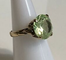 Vintage 14k Yellow Gold Ring with 5+ ct Light Green Spinel (sz 6)