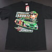 NWT Bobby Labonte #18 Performance Leader Mens Large Black Nascar Racing T-Shirt