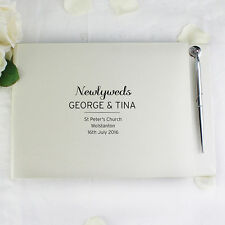 Personalised Mr and Mrs Message Guest Book & Pen Set Wedding Engagement Gift