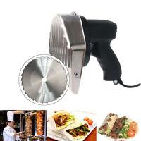 Commercial Electric Shawarma Doner Kebab Meat Slicer Gyros Cutter 2 Blades CE