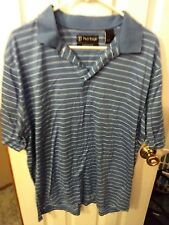 Pro Tour Golf shirt Blue Stripped.  Large