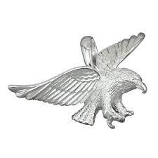 Männer fliegender Adler Greifvogel Ketten Anhänger Echt Silber 925 für Biker