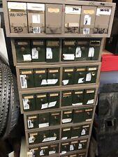 Vintage Industrial Metal Six-Drawer File cabinet metal box card 1940's