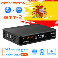 Receptor DVB-T2/C GTMEDIA GTT2 Smart Android TV BOX Quad Core Media Player, WiFi