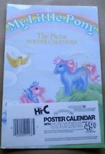 MY LITTLE PONY 'THE PICNIC' Hi-C Promo POSTER CALENDAR W/STICKERS, circa 1984