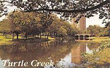 Dallas Texas~Turtle Creek Bridge~North of Downtown~1960s Postcard
