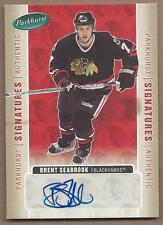 2005-06 Parkhurst autographed hockey card Brent Seabrook, Chicago Blackhawks