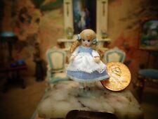 "Tiny Miniature dollhouse dolls doll ~porcelain~ jointed~ 1 1/4 """
