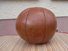 Antiker Turnmeyer Medizinball Leder - Ball Handgefertigt um 1930 Leder Art Deco