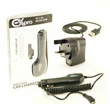 Ex-Pro® In-Car Power Charger Mains Charger+ USB Cable- Nokia Phone Lumia 800 820