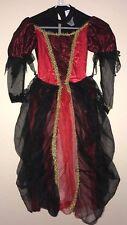 girls size medium Gothic Princess red black Halloween Costume Dress Full Fancy n