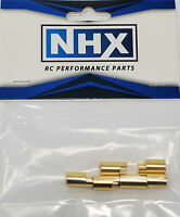 NHX 6.5mm Gold Plated Bullet Adapter Connector Female 6Pcs/Bag