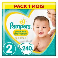 couches Pampers - New Baby - Taille 2 (4-8/3-6 kg) - Pack 1 mois (x240 couches)