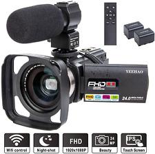 Camcorder Video Camera YEEHAO WiFi HD 1080P 24MP 16X Powerful Digital Zoom Vlog