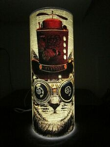 Steampunk Cat Paper Lantern No.1098, veterinary gifts, writer's gifts, eco light