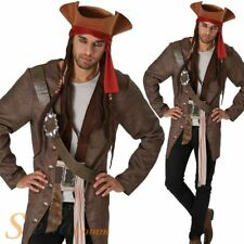 Mens Jack Sparrow Costume Pirates Of The Caribbean Fancy Dress Outfit