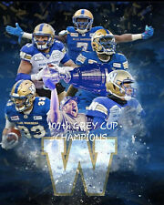 Winnipeg Blue Bombers - 2019 Grey Cup Champions Wall Art Poster, 8x10 Photo