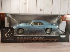 Highway 61 1969 Chevy Camaro SS 350 '69 Blue 1:18 Scale Diecast Model Car