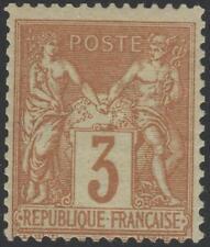 "FRANCE STAMP TIMBRE N° 86 "" SAGE 3c BISTRE SUR JAUNE "" NEUF xx TTB  K273"