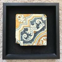 Antique Spanish Mission Church Tile Framed