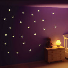 Glow in The Dark Butterfly Wall Stickers Wall Decals Wall Art Wall Graphics