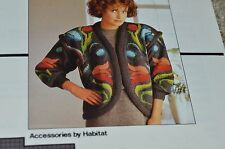 Vintage EMU Colorful Cardigan Sweater pattern DK One Size