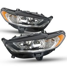 For 2013 2014 215 2016 Ford Fusion Headlights Lights Lamps Pair Set Left+Right