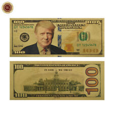 WR US President Donald Trump New Colorized $100 Dollar Bill Gold Foil Banknote