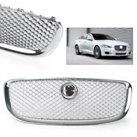 Chrome Front Grille Upper Mesh Grill For Jaguar XJ 2010-2015 2011 2012 2013 2014