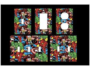 MARVEL CAST #2 Light Switch Covers Marvel Comic Books Movies Home Decor Outlet