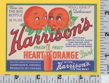 B980 Harrison Heart O' Orange fruit drink bottle label anthropomorphic oranges