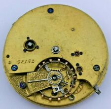 Nice Quality English Fusee Pocket Watch Movement for Parts or Repair (H73)