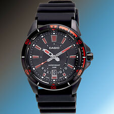 Casio Mens Resin 100M Diver Sports Date Display Rotary Bezel Watch MTD-1066B-1A2