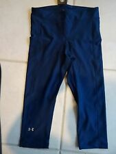 NEW WOMENS UNDER ARMOUR HEATGEAR CAPRI TIGHTS  - SZ LG