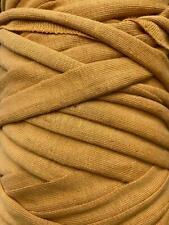 Medium T-Shirt Recycled Jersey Knitting Crochet Rug Yarn Gold