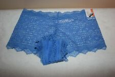 NWT 1 Pair of Gilligan & O'Malley Cheeky Lace Underwear Sz Small Summer Blue