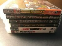 PS3 PLAYSTATION 3 ~ 6 GAME LOT! SAINTS ROW JUST CAUSE MEDAL OF HONOR+ FREE SHIP!