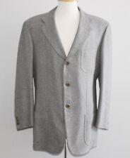 Cashmere Wool BORRELLI Blazer 44R 44 Regular 3 Button Italy Surgeon Cuffs GRAY