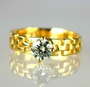 2.58 Ct Certified  White Diamond Solitaire Gold Finish Ring-Latest Collection