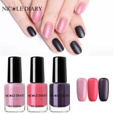 NICOLE DIARY 6ml Matte Nail Polish Pink Black Peel Off Pearl Varnish 3Bottles