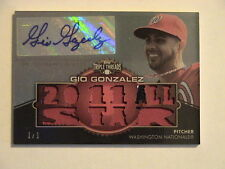 2012 Topps Triple Threads Gio Gonzalez Washington Nationals Patch Auto 1/1
