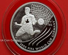 2003 Canada Official 2006 Fifa World Cup Silver Proof $5 Five Dollar Coin & Coa
