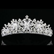 Snowflake Floral Bridal Headpiece Rhinestone Crystal Prom Wedding Tiara V914