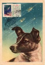 "Russia USSR 1960 Space, Moscow ""Sputnik 3"" Dog Maximum card Lollini#217 IX"
