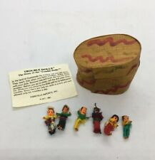 1981 Collectable Trouble Dolls Made in Guatemala 6 Small Dolls With Box / Story