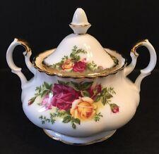 Royal Albert Old Country Roses Sugar Bowl 2 Handles Lidded