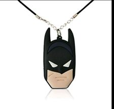 Batman necklace jewellery justice league SUPER HEROES Leather Necklace
